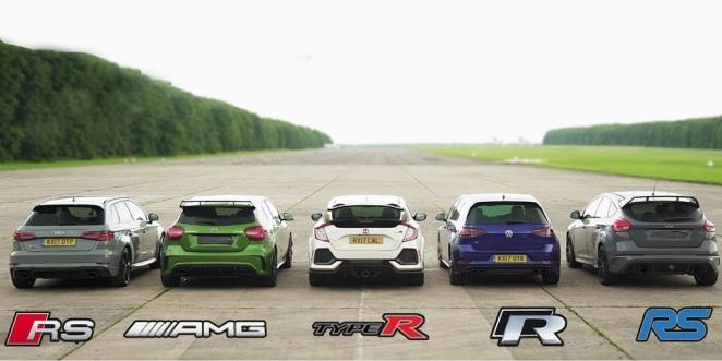 المنافسة تجمع  أقوى 5 سيارات هاتشباك في تحدي التسارع