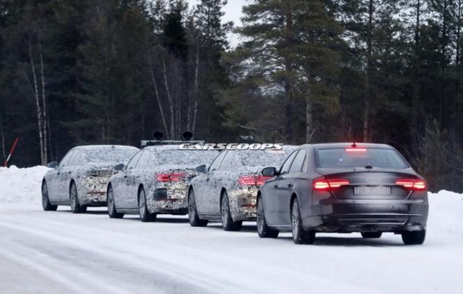 صور تجسسية لسيارة أودي A8 الجديدة