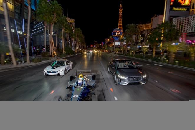 مدينة الأضواء تستعد لاستقبال فريق باناسونيك جاكوار للسباقات في سباق المليون دولار فيزا فيغاس إي-ريس