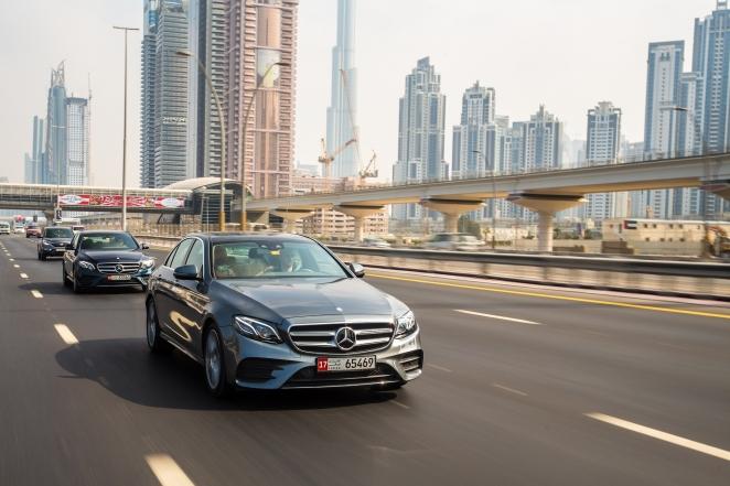 مرسيدس بنز الفئة E تُكمل أول تجربة للقيادة الآلية من دبي إلى أبوظبي