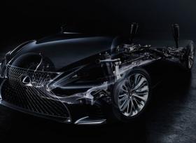 صورة تشويقية لسيارة لكزس LS الجديدة