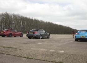 منافسة بين الفا روميو جوليا و بي ام دبليو M3 و مرسيدس C63 S AMG