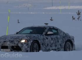 اختبار تويوتا سوبرا على الطرقات الثلجية