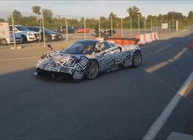 فيديو جديد لسيارة باجاني هويارا الاختبارية