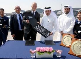 مطار حمد الدولي يرحب بأسطول سيارات أودي الفاخرة
