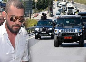 زعيم بالمافيا التركية يذهب الى السجن بسيارات فخمه