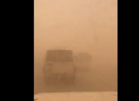 الغبار الكثيف يتسبب بحادث جماعي في السعودية