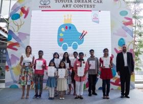 الفطيم للسيارات تستقطب مواهب شابة من الامارات في الدورة الثالثة من مسابقة تويوتا الفنية العالمية لرسم سيارة الأحلام