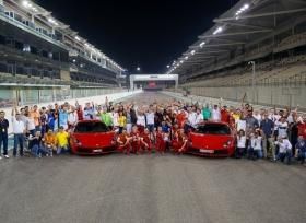نادي مُلاك سيارات فيراري بالإمارات بخضون تجربة قيادة  فيراري 488 GTB لأول مرة على حلبة مرسى ياس