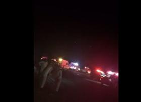 حادث حافلة معتمرين