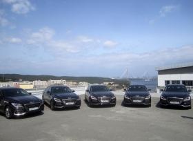 أسطول من سيارات جينيسيس G80 الفخمة في خدمة وفود منتدى الشرق الاقتصادي بروسيا
