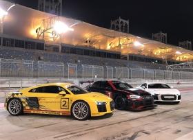 استعراض Audi RS 3 LMS وAudi R8 في سباق Gulf Run
