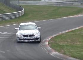 بي ام دبليو تختبر سيارتها الجديدة M5 على حلبة نوربرجرنج
