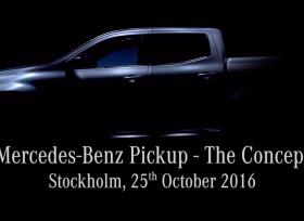 مرسيدس تنشر رسمياً فيديو تشويقي لسيارتها البيك أب