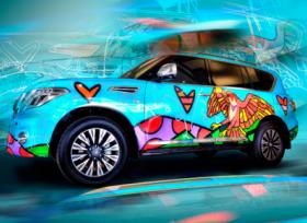 نيسان باترول الخاصة بـ المسعود للسيارات لوحة تلهم الفنان روميرو بريتو