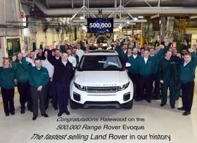 لاند روفر تحتفل بإنتاج 500,000 سيارة