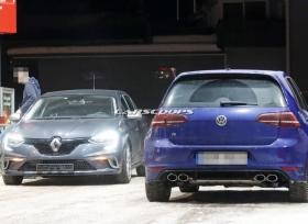 رينو ميجان RS تظهر بصور تجسسية اثناء اختبارها مع فولكس واجن جولف R