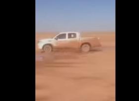 بالفيديو تويوتا هايلوكس تتعرض لحادث اثناء التطعيس