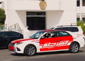شرطة ابوظبي تغلق الطريق السريع لسبب غريب