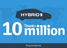 مبيعات هايبرِد العالمية لشركة تويوتا تتجاوز حاجز الـ 10 ملايين مركبة